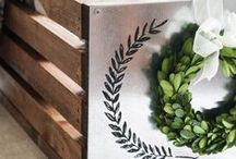Decor: CRATES / Crates, boxes, trunks used for storage, furniture or decorations.   / by Songbird Blog