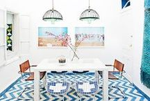 Decorate with Color / Living spaces with a pop of color