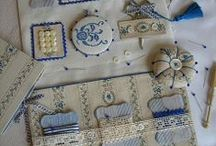 Reticules, Hussifs, Needle Cases & Pincushions / Reticules, hussifs, needlecases, pincushions and other ways to store hand sewing supplies. Sewing patterns for needlecases and pincushions.