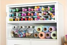 Creative Spaces / Creative Space Ideas like neat craft rooms, offices and other creative places!