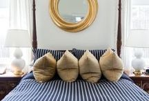 BRASS AND BLUE / Brass and blue home decor
