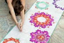 Cool Yoga Mats / These beautiful mats give your downward facing dog something pretty to look at.