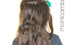 D's favorite hair styles / My 7 year old daughters favorite #hairstyles for #girls / by Monica Brito