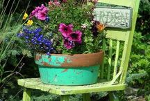 thinking outside my box... / pretties for my yard, carport and front/back entryways / by Mary Beth Burrell