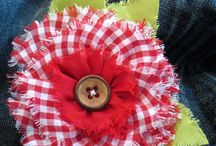 Fabric Flowers / so little time.... at least they don't need to be watered. / by Mary Beth Burrell