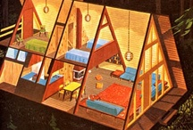 A-frame dollhouse / Inspiration for the A-frame dollhouse I'm going to make for the Undersized Urbanite dollhouse contest. I'm making this from scratch -- not using a kit. I'll upload in-progess pics to flickr and change the link to the contest when I have it up and running. / by Beth Lemon