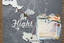 Travel Journal Pins / A mix of collage, PL, and scrapbook ideas to use for our yearly vacation travel journal. / by Beth Lemon