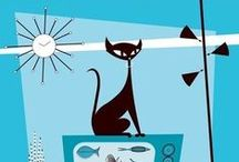 Home is where the cat is / Lovely cat themed things / by Bea B.