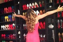 Closets etc / Cute little spaces worthy of your lovely shoes and other adornments. / by Jenna Bush