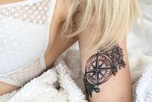 TATTOO / inspiration for my next tattoo with a mix of styles: lettering, nautical, traditional, and nature-inspired