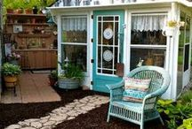 Sheds and Shelters / Potting benches and work areas, too!