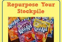 Repurpose Your Stockpile / Save Money by giving alternative uses for items that you have picked up for free or very cheap.
