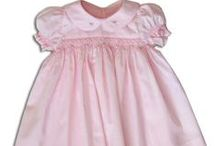 Girls pink smocked dresses