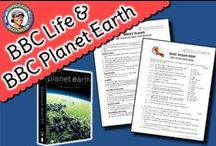 ~ My BBC Life & Planet Earth Resources ~ / This board contains worksheets (with answer keys) and quizzes (with answer keys) for all episodes of BBC's Planet Earth narrrated by David Attenborough.