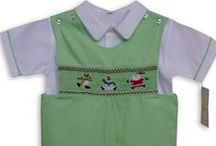 Boys Christmas Outfits / Hand smocked boys outfits, longalls and shortalls,  perfect for this holiday season.