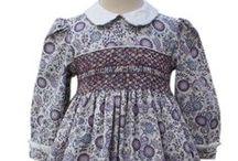 Girls hand smocked paisley print dresses / Girls hand smocked paisley print dresses,  very nostalgic, yet elegant!