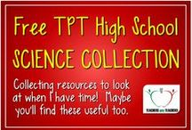 Free TPT High School Science Collection / This is the free high school chemistry, biology and physics stuff I've come across.  I am collecting it to browse through when I have time.  I've thrown in some of my freebies too.  If this stuff is useful to you, please feel free to repin.