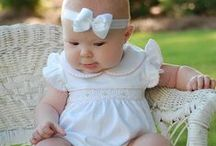 Baby girls smocked bubbles rompers / Beautiful baby girls bubbles rompers hand smocked around the neck with symmetric embroidery,   perfect for your baby girls first birthday party,  portraits,  or just to wear during summer.