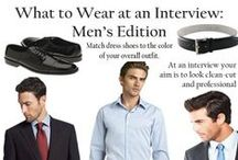 His Interview Outfit infographic / Interview Outfit, Interview attire, dress for success