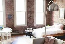 MY LOFT - home decor inspiration / home decor inspiration for my loft in Seattle's Pioneer Square neighborhood - lots of open floor plans, exposed brick, tall ceilings, and bohemian meets industrial vibes. boho styling tips and tricks.