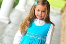Girls Turquoise Dresses with Smock / We have gathered a beautiful collection of hand smocked girls dresses in a beautiful turquoise color, perfect for summer, birthday parties and portraits.  I hope you enjoy it and pin as much as you want.