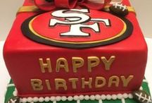 49ers Cakes / Because everything's better with sugary red and gold icing