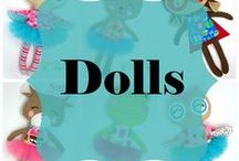 LDD Dolls / Handmade Doll and Softies from Little DeMoura Designs.   www.littledemouradesigns.com  handmade doll, cloth dolls, handmade toys, unique dolls, handmade gifts, gifts for kids, work at home mom, small shop