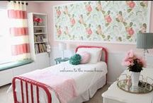 Girls Bedroom Ideas / Bedroom ideas for girls.  Find inspiration for your bedroom design. / by Aly Brooks {entirelyeventfulday.com}