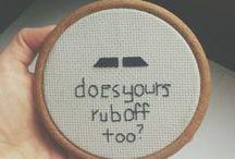 Cross stitch, yo.