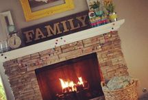 Mantels / How to make my fireplace pretty. / by Megan Spreer