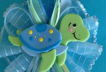 Turtle Baby Shower / Baby shower with a turtle theme and colors blue and green / by Sharon Casto
