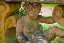 Garden ART / Outdoor art, garden art & water features.  Statues & fountains.