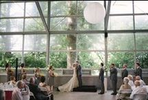 OUR WEDDING / 06.21.14 // Provincial modern set in a minimalist factory // colors: grey, ivory and yellow
