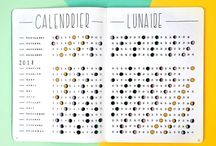 Bullet Journal | Collections / Bullet journal collections • birthday • movies • books • tv show • moon calendar...