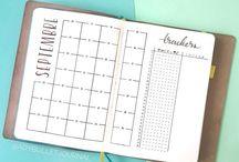 Bullet Journal | Monthly Log / Bullet journal monthly log • calendar • monthly spreads