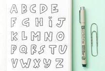 Lettering / Calligraphy / Lettering • calligraphy • hand lettering • alphabet