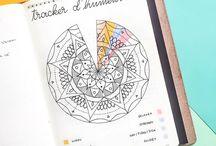 Bullet Journal | Trackers / Bullet journal trackers • mood tracker • workout tracker • habit tracker...