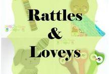 LDD Rattles and Loveys / Rattles and Lovies from Little DeMoura Designs  www.littledemouradesigns.com  handmade dolls, baby loveys, baby lovies, baby gifts, shower gifts, baby rattles, toddler gifts, toddler toys, handmade toys, work at home mom, small shop