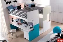 Camerette a soppalco / Soluzioni per arredare in verticale le camere dei bambini. Le trovate da Fabbrica Camerette, www.camerette.net