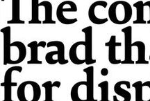 typography / by Christine Lefebvre