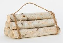 Birch Love / We've fallen for autumn decor dressed up in birch bark.