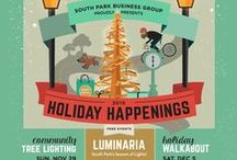 Walkabouts / What's a South Park Walkabout? It's a fun-filled evening festival to introduce you to the shops and cafes of our charming, hip and historic 'hood. Shops are open late, with entertainment, specials, and surprises. Browse, explore, shop, and celebrate!