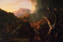 Inspiration - Hudson River School photomontage project ideas / Gathering ideas for a photo project that re-imagines the Hudson Valley landscape with a contemporary and decidedly anti-romantic vision using digital photomontage techniques.  Source images from the Hudson River School of Painting, plus various compositing techniques...