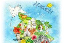 Travel * Maps * Karten / Creative map material from around the world.  Tolle, kreative Landkarten für die Reisevorbereitung.