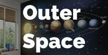 Outer Space Wall Murals Wallpaper