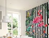 Flamingo Wall Murals & Wallpaper