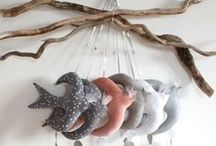 Mobile Love / Hanging mobiles are not just for babies! Felt, fabric, wood, ceramic, and more !