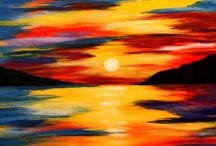 Landscapes / Landscape Paintings: Trees, moons, mountains and dreamy sunsets to hang on your walls.