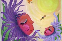 My Acrylic Paintings / My original acrylic paintings are the heart and soul of my business simply because I prefer painting with acrylic paints more than any other medium. With that being said I have a large variety of paintings in my stash. Most of my acrylic art paintings are filled with lots of color. And while I tend to become inspired from the beauty of the outdoors, every so often I get in the mood for abstract designs as well.