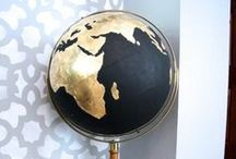 Around The World / Map and Globe art